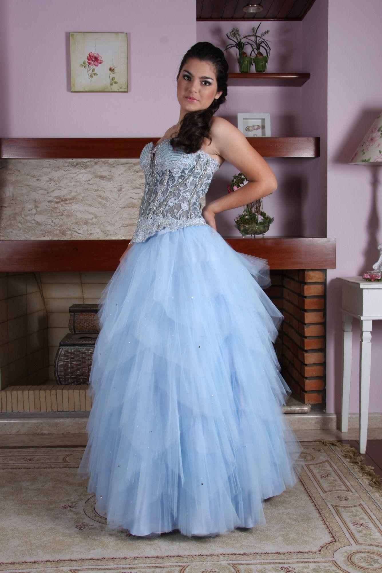 Vestido de Debutante Azul - 17 - Hipnose Alta Costura e Spa para Noivas e Noivos - Campinas - SP Vestido de Debutante, Vestido de Debutante Azul, Hipnose Alta Costura