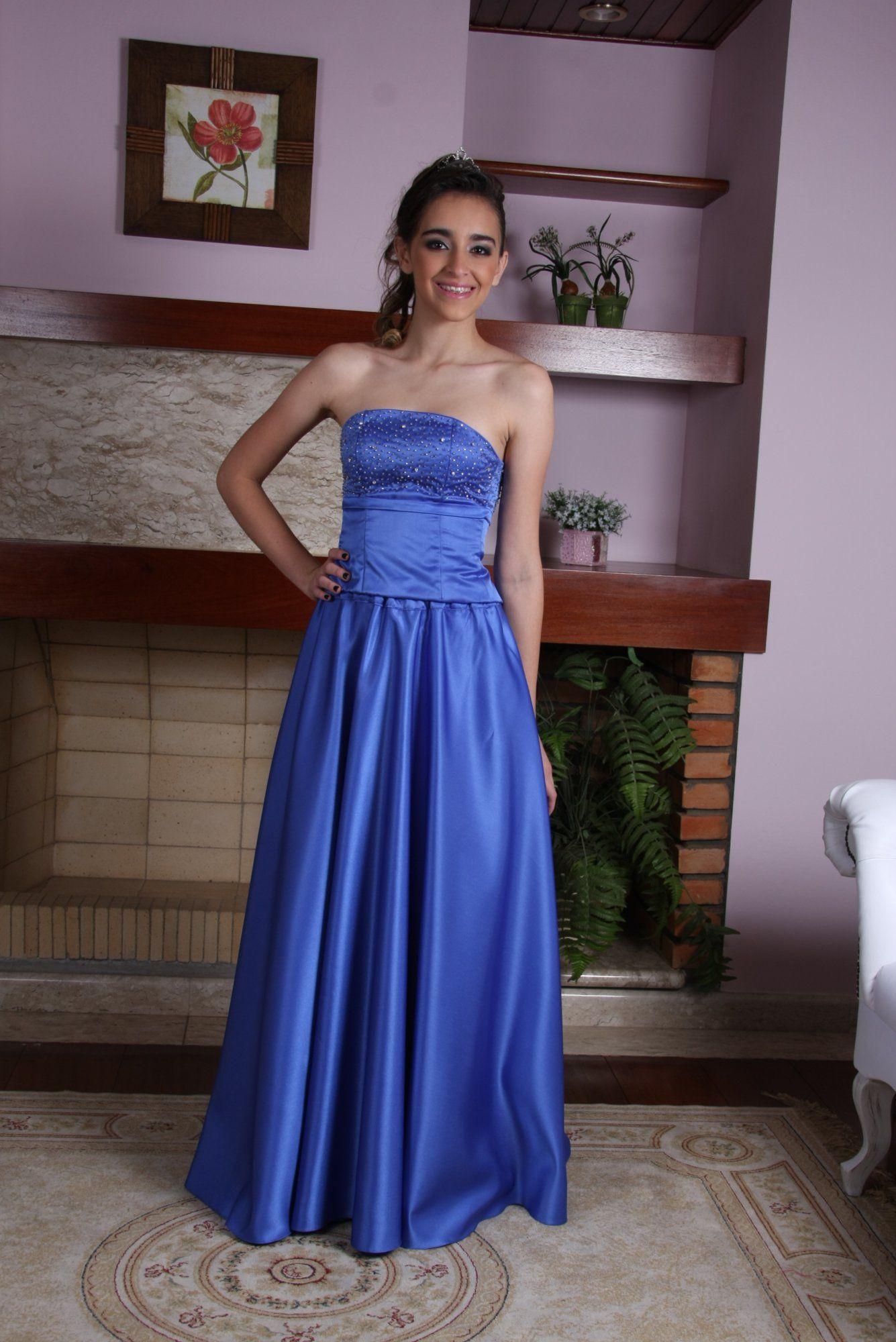 Vestido de Debutante Azul - 5 - Hipnose Alta Costura e Spa para Noivas e Noivos - Campinas - SP Vestido de Debutante, Vestido de Debutante Azul, Hipnose Alta Costura