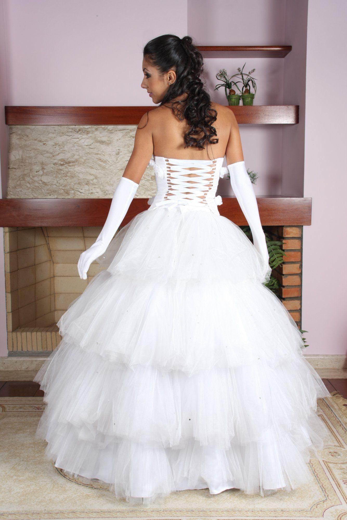 Vestido de Debutante Branco - 1 - Hipnose Alta Costura e Spa para Noivas e Noivos - Campinas - SP Vestido de Debutante, Vestido de Debutante Branco, Hipnose Alta Costura