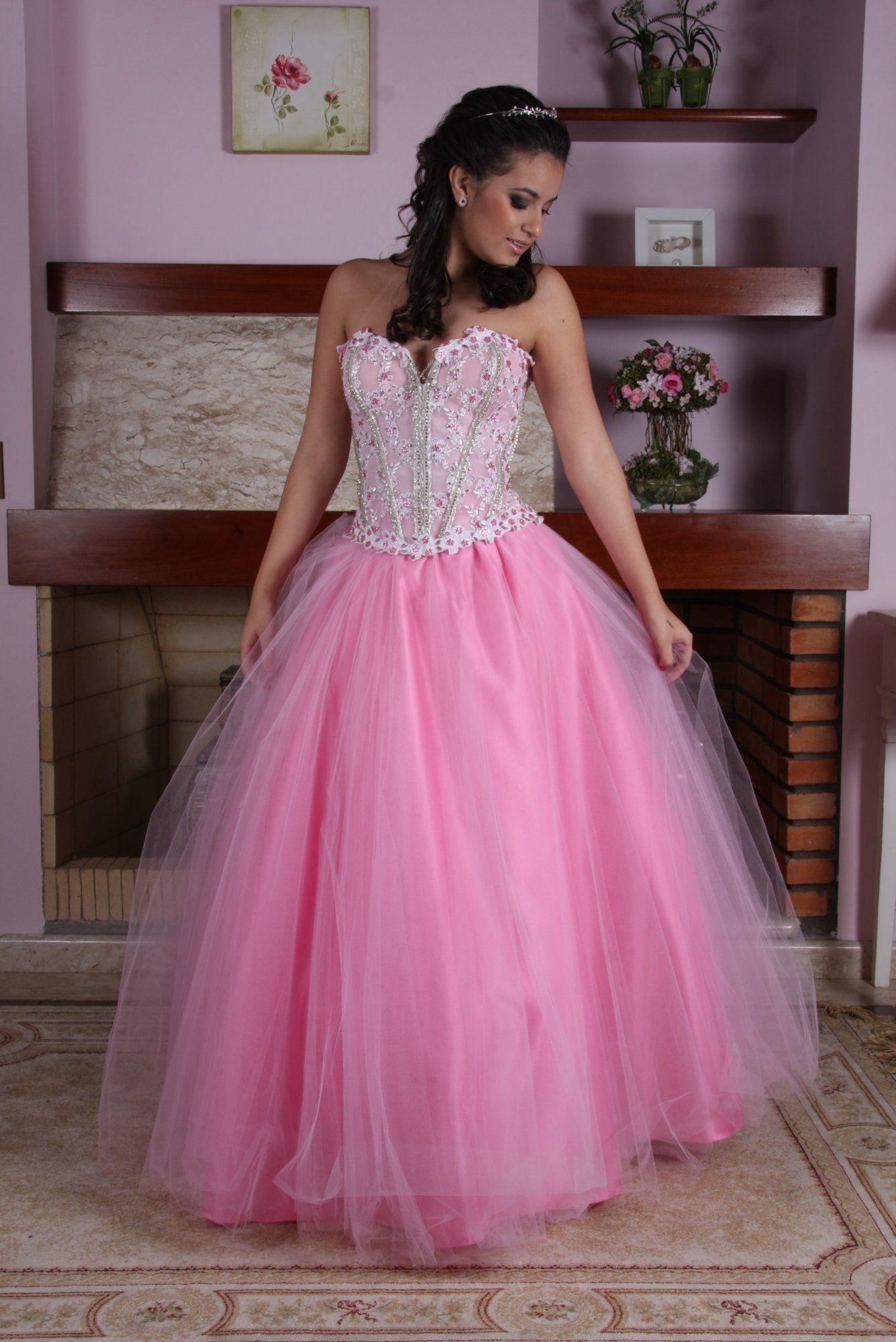Vestido de Debutante Rosa - 26 - Hipnose Alta Costura e Spa para Noivas e Noivos - Campinas - SP Vestido de Debutante, Vestido de Debutante Rosa, Hipnose Alta Costura