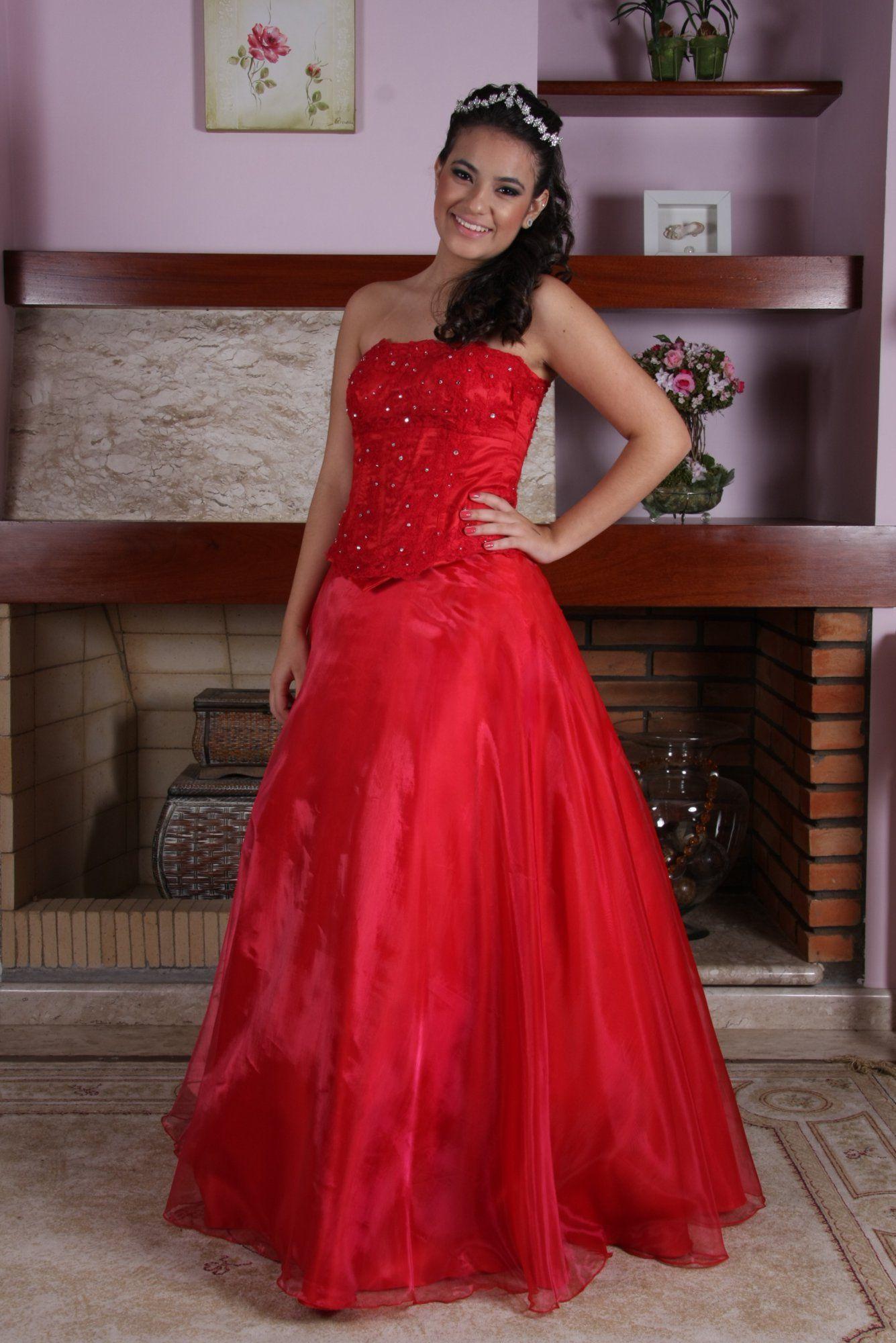 Vestido de Debutante Vermelho - 13 - Hipnose Alta Costura e Spa para Noivas e Noivos - Campinas - SP Vestido de Debutante, Vestido de Debutante Vermelho, Hipnose Alta Costura