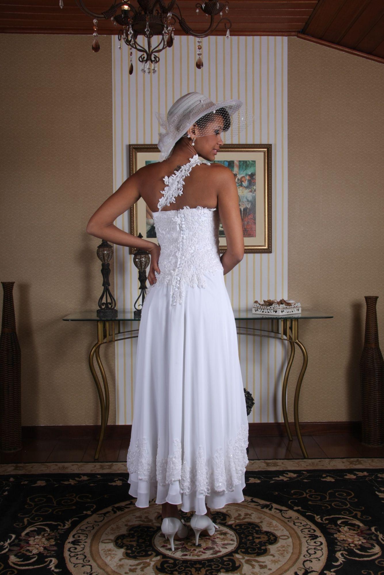 Vestido de Noiva Curto - 1 - Hipnose Alta Costura e Spa para Noivas e Noivos - Campinas - SP Vestido de Noiva, Vestido de Noiva Curto, Hipnose Alta Costura