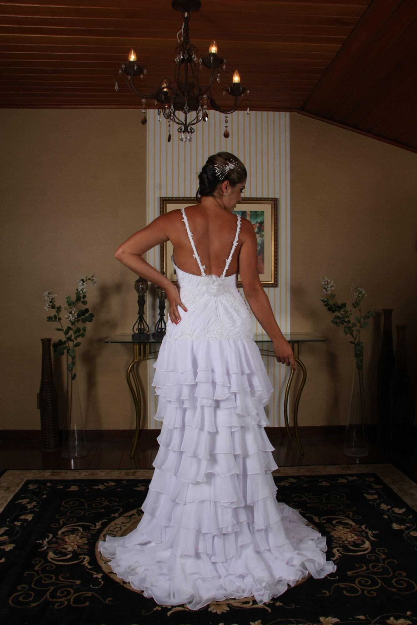 Vestido de Noiva Curto - 3 - Hipnose Alta Costura e Spa para Noivas e Noivos - Campinas - SP Vestido de Noiva, Vestido de Noiva Curto, Hipnose Alta Costura