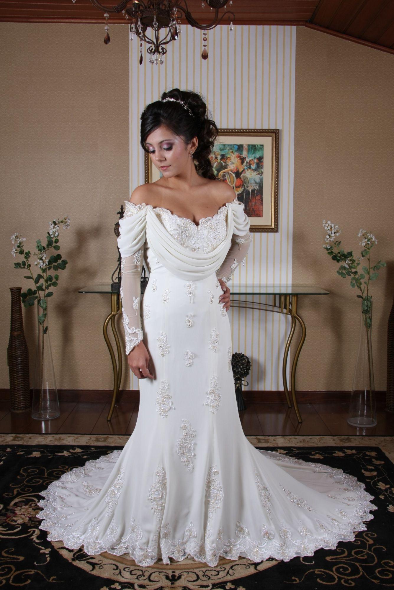 Vestido de Noiva Princesa - 4 - Hipnose Alta Costura e Spa para Noivas e Noivos - Campinas - SP Vestido de Noiva, Vestido de Noiva Princesa, Hipnose Alta Costura