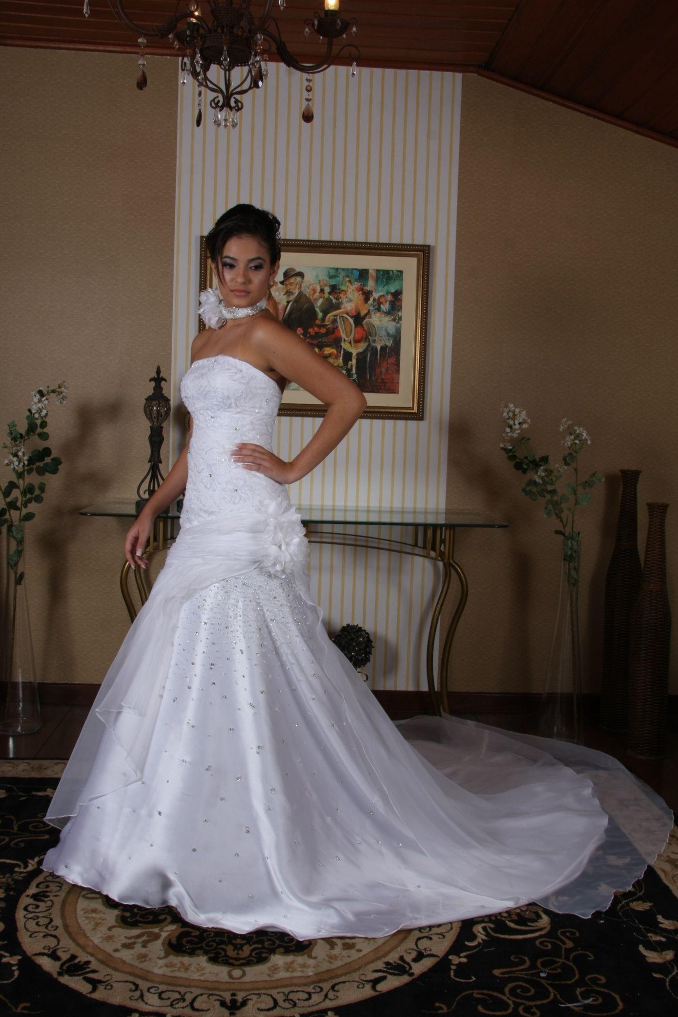 Vestido de Noiva Semi Sereia - 13 - Hipnose Alta Costura e Spa para Noivas e Noivos - Campinas - SP Vestido de Noiva, Vestido de Noiva Semi Sereia, Hipnose Alta Costura
